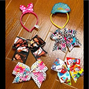 Set of 6 Girls LOL surprise bow Shopkins headband